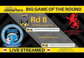 WA STSP Rd 8 BIG Game Lions v Sharks