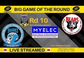WA STSP Rd10 BIG Game Bears v Sharks