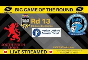 WA STSP Rd 13 BIG Game Sharks v Lions