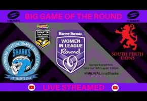 WA STSP Women In League Round Lions v Sharks