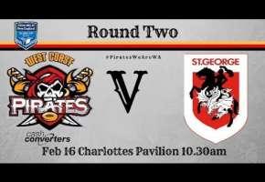 Rd 2 Pirates v St George Dragons