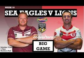 WA STSP Round 10 - Sea Eagles v Lions