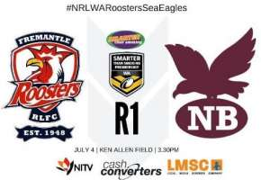 WA STSP Rd 1 Roosters v Sea Eagles