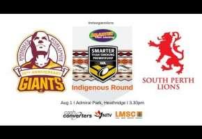 WA STSP Indigenous Round Giants v Lions